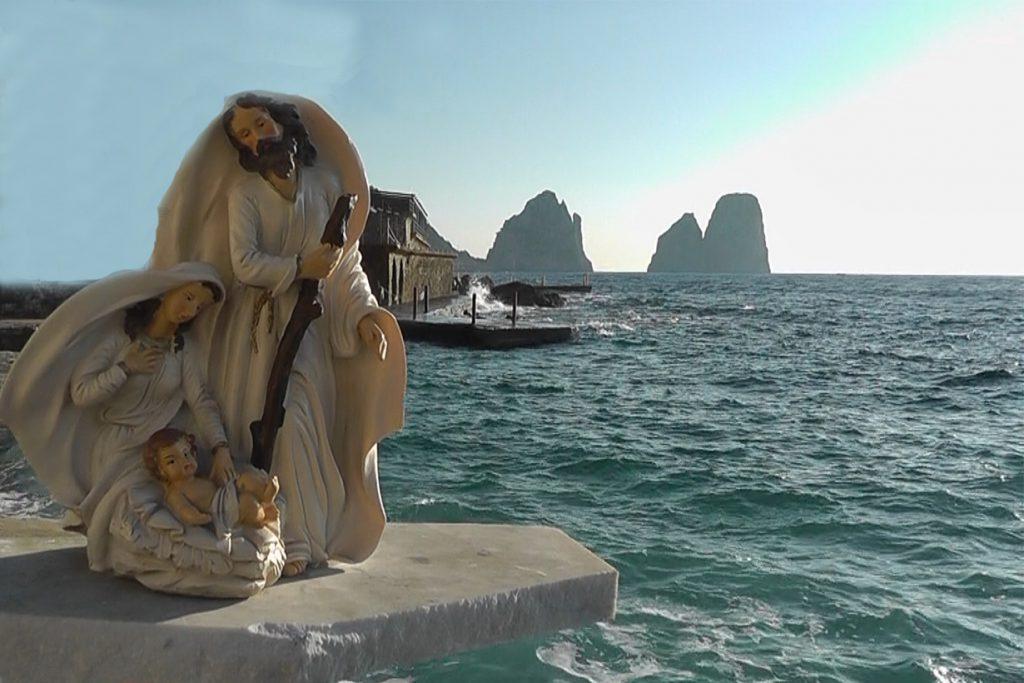 Presepe Subacqueo a Capri prima dell'immersione
