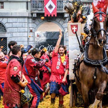Carnevale di Ivrea – Battaglia delle arance – Dal 10 al 13 febbraio 2018